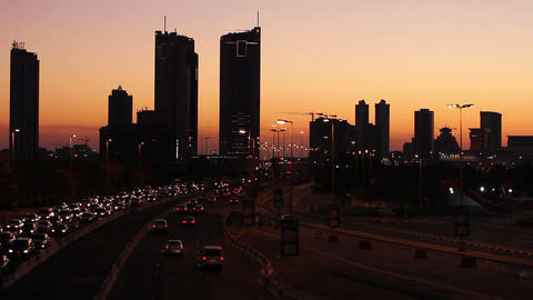 sunset in bahrain Stock Video Footage