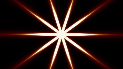 Illuminating star rotating Stock Video Footage