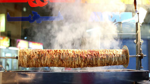 arabic fast food: kebab Stock Video Footage