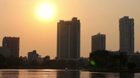 sunset at colombo, sri lanka Stock Video Footage