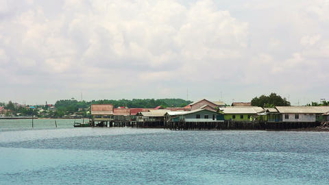 wooden houses in Penyengat island Stock Video Footage