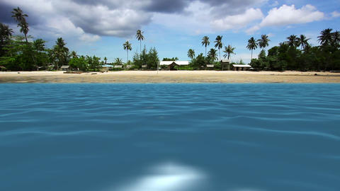 exotic beach with blue sea Stock Video Footage