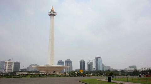 national monument, jakarta, indonesia Stock Video Footage