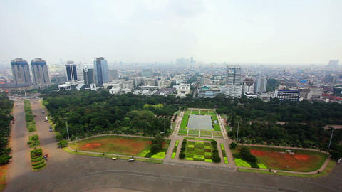 high angle jakarta city view Footage