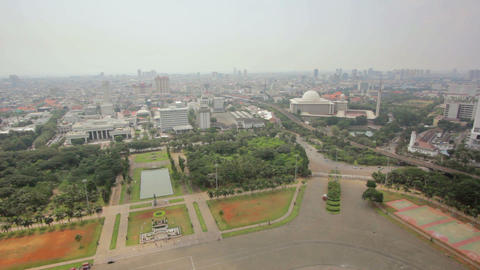 high angle jakarta city view Stock Video Footage