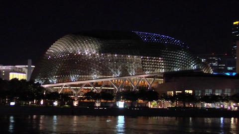 The Esplanade at Night, Singapore Footage