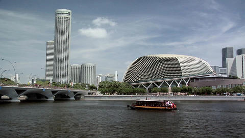 The Esplanade and Marina Bay, Singapore Footage