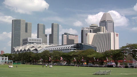 High Rising Buildings of Marina Bay, Singapore Footage