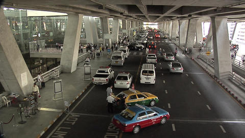 The Departure Level inside the New Suvarnabhumi International Airport Live Action