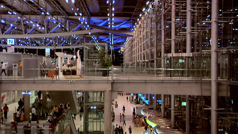 The Departure Level at Night at New Suvarnabhumi International Airport Footage