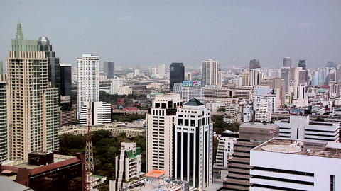 Elevated View of Ploenchit District. Bangkok Live Action