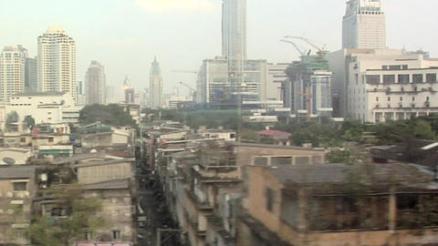 POV from Skyrain, above Phaya Thai Road near Ratchathewi Station Live Action