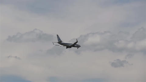 Plane Which Is Prepared For The Landing Approach Airport Runway 10 stock footage