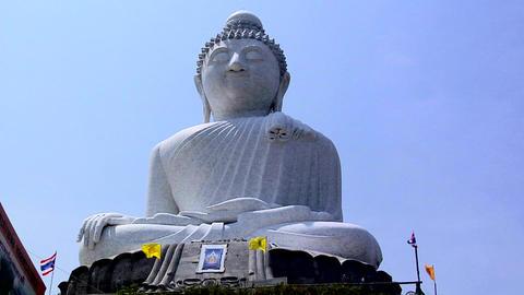 Unfinished Big Buddha Statue at Wat Phrathong Footage