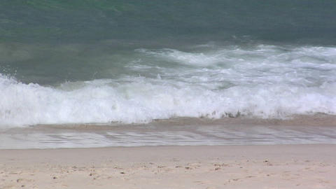 Ocean Wave rolling to the Beach Footage