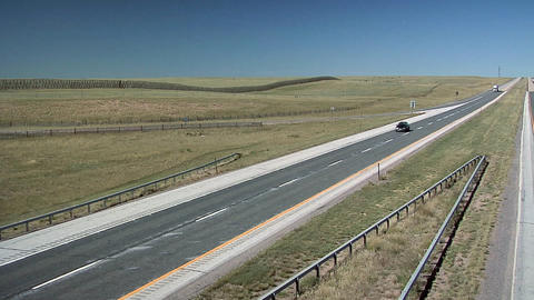 Interstate 25 North of Cheyenne, Wyoming Footage