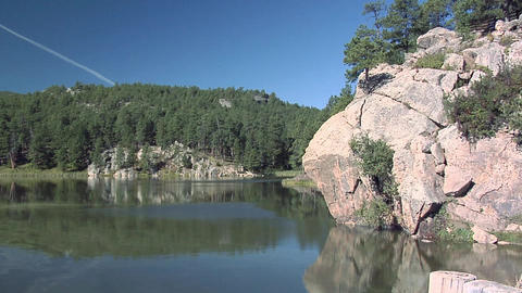 Horse Thief Lake near Mt. Rushmore Live Action