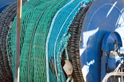Fishing nets in the harbor in Hanstholm Foto