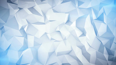 Light blue low poly 3D surface seamless loop animation Animation