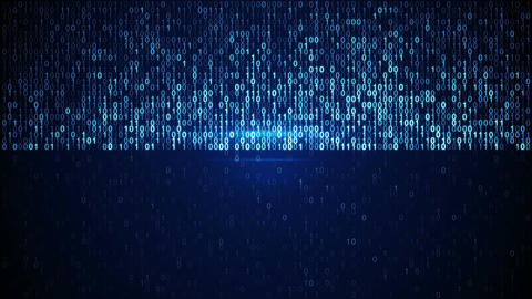 Scan blue digital binary data code seamless loop animation Animation