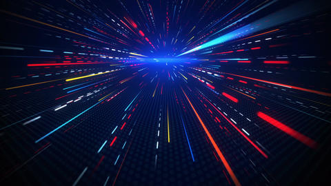 Motion blurred rays abstract loopable background Animation