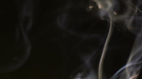 White smoke flows on black background seamless loop Footage