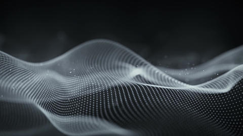 Cyber surface waving seamless loop closeup animation with DOF Animation