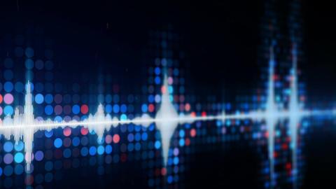 Audio waveform equalizer on monitor loopable animation Animation