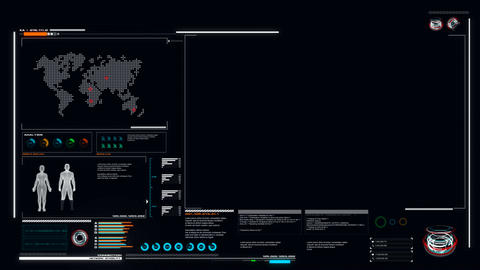 4K UI User Interface Dark blue background with graph bar infographic Footage