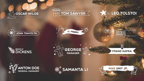 Christmas Lower Thirds After Effects Template