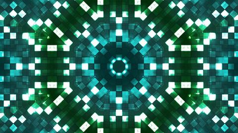 Broadcast Firey Light Hi-Tech Squares Kaleidoscope, Turquoise, Abstract 애니메이션