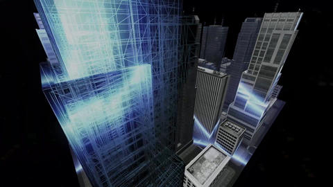 3D Cityscape Compilation CG動画素材
