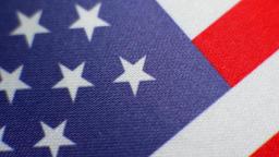 American flag turning Image