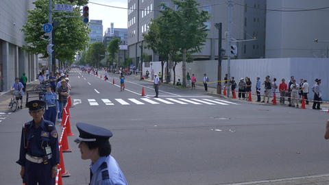 Hokkaido Sapporro Japan 20th of August 2017 Marathon Runners from all over the Archivo