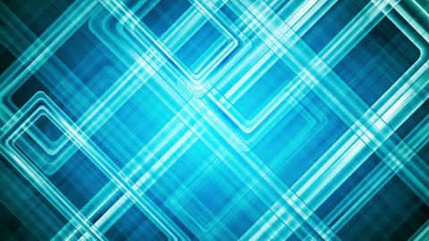 Abstract blue glossy squares tech sci-fi video animation Animation
