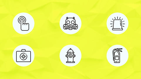 Safety Business Security Industrial Protection Icon Set After Effects Template