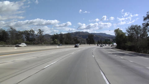 POV on Interstate 5 near Los Angeles Stock Video Footage