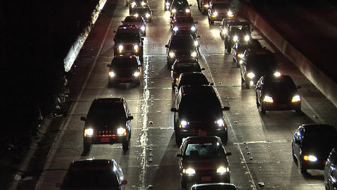Evening Rush Hour on 101 Freeway Footage