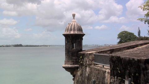 Sentry Box of Castillo San Filipe Del Morro Footage