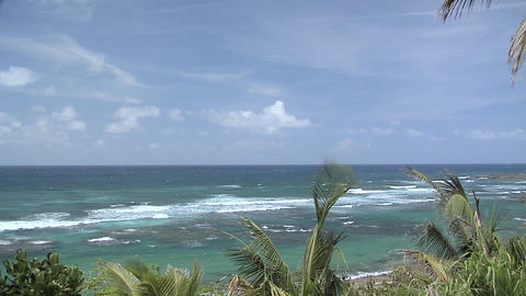 Waves of the Atlantic Ocean at the Resort Area of San Juan Live Action
