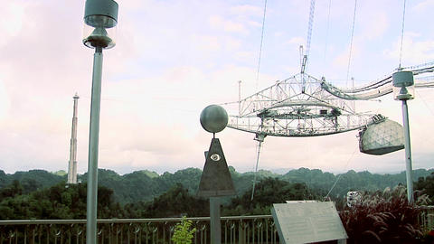 The biggest Radio Telescope in the World at Arecibo Footage