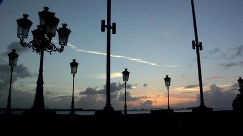 Caribbean Sunset seen from the Esplanade of Paseo de la Princesa Live Action