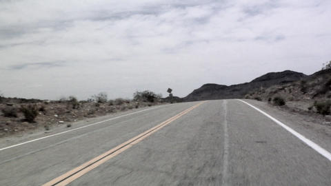 POV on the Cima Road, East Mojave Desert Live Action