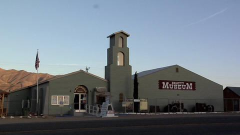 The Exterior of the Beatty Museum late Afternoon, Nevada Live Action