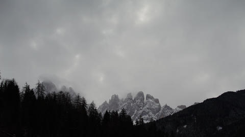 Alpes Peak Clouds Timelapse 4К Footage