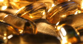 Fish oil Vitamins and supplements health food pills for healthy lifestyle Footage