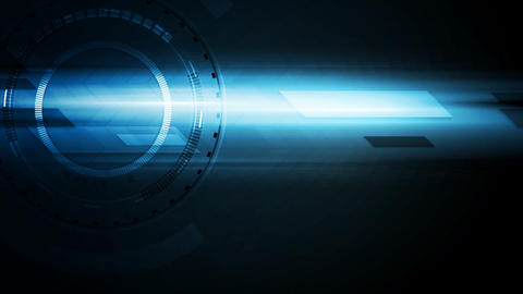 Dark blue technology glowing video animation Animation