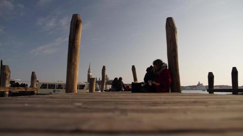 Venice Port People Timelapse HD Footage