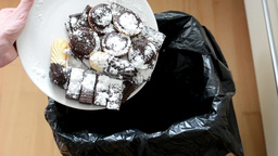 cookies and sweets - thrown into waste Footage