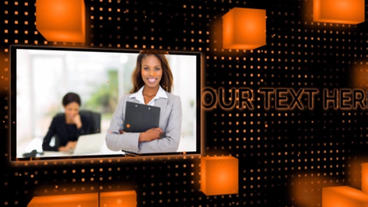 Orange Black Slideshow After Effects Templates